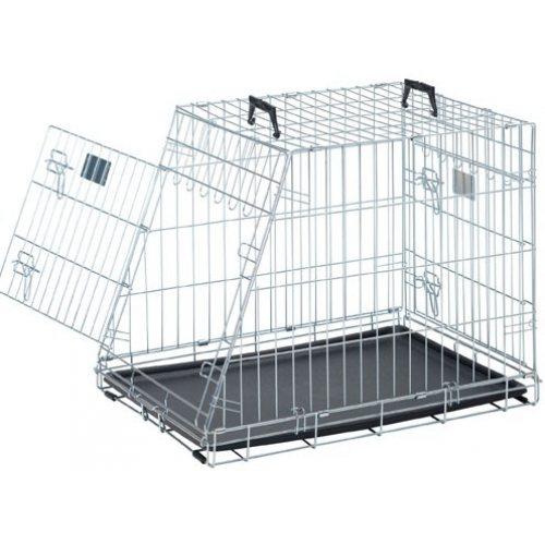 ZOOSHOP.ONLINE - Zoopreču internetveikals - Savic Dog Residence Mobile 91cm - metāla būris automašīnai
