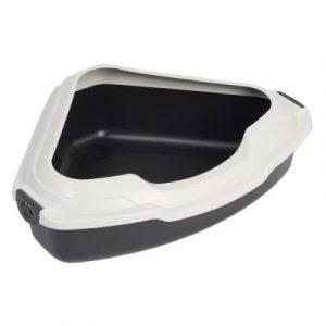 ZOOSHOP.ONLINE - Интернет-магазин зоотоваров - Туалет для кошек угловой Bowl 56 x 43 x 16 см