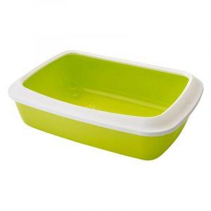 ZOOSHOP.ONLINE - Интернет-магазин зоотоваров - SAVIC IRIS туалет для кошек с бортиком светло-зеленый 42 см
