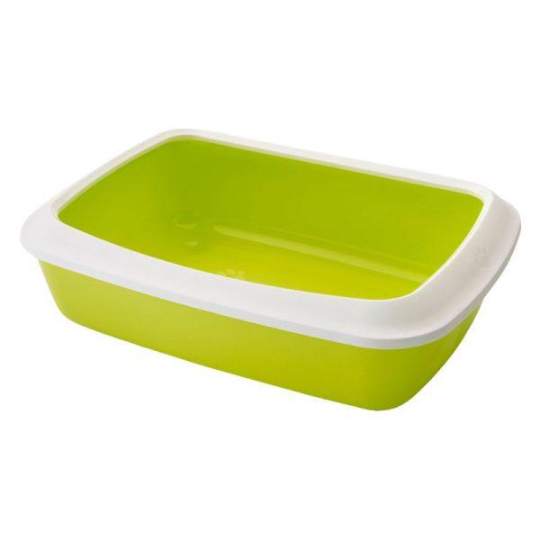 ZOOSHOP.ONLINE - Интернет-магазин зоотоваров - SAVIC туалет для кошек с бортиком IRIS  светло-зеленый 42 см