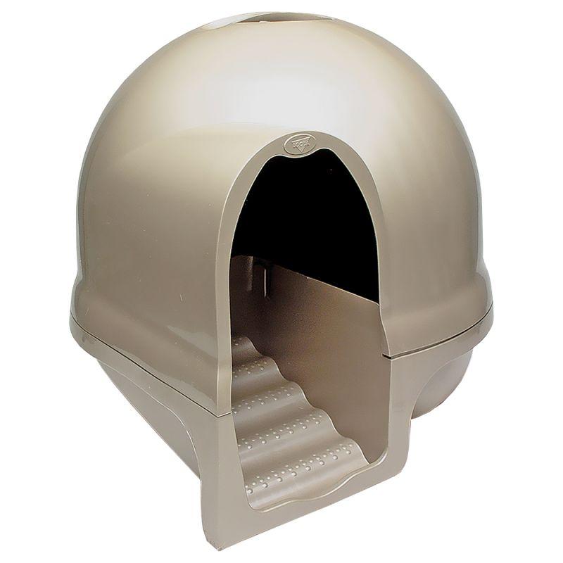 ZOOSHOP.ONLINE - Zoopreču internetveikals - SAVIC Nestor Jumbo  pelēka ar baltu - kaķu tualete