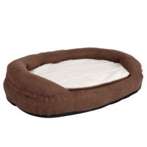 ZOOSHOP.ONLINE - Интернет-магазин зоотоваров - Ортопедическая кровать для собак овальная, коричневая 100 x 65 x 24 см