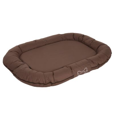 ZOOSHOP.ONLINE - Zoopreču internetveikals - Ortopēdiskā  gulta sunim  ovāla, brūna  100 x 65 x 24 сm