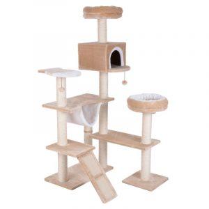 ZOOSHOP.ONLINE - Интернет-магазин зоотоваров - Когтеточка-домик для кошек Пряничный домик бежевый