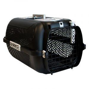 ZOOSHOP.ONLINE - Zoopreču internetveikals - Transportēšanas plastmasas boks Catit Tiger Voyageur - 38 x 57 x 31 cm melns
