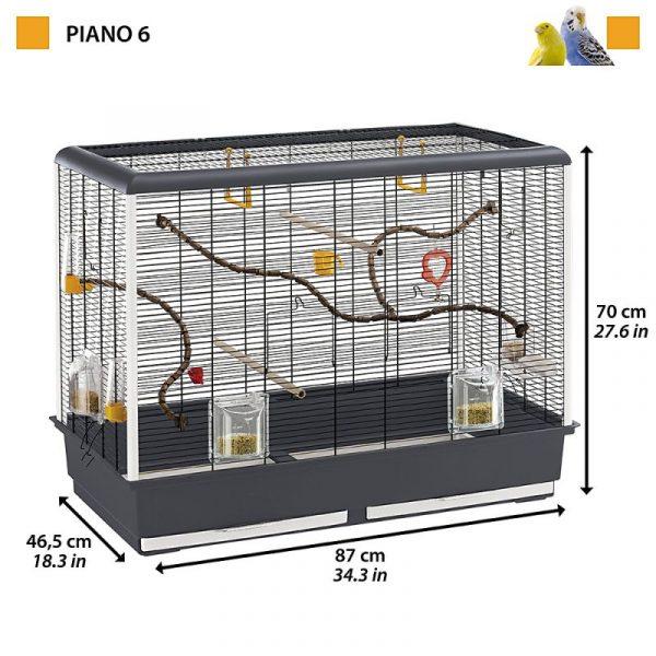 ZOOSHOP.ONLINE - Интернет-магазин зоотоваров - Ferplast Piano 6 для волнистых попугайчиков 87 x 46,5 x 70 см