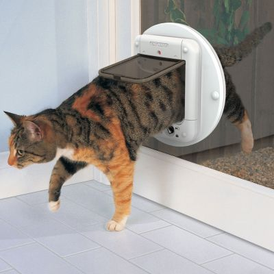 ZOOSHOP.ONLINE - Интернет-магазин зоотоваров - Cat Mate Microchip Cat Flap дверь для кошек с микрочипом