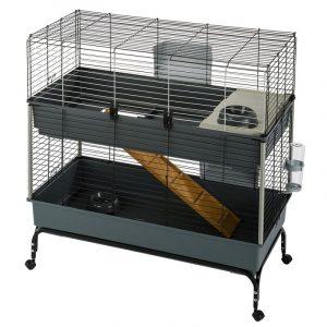 ZOOSHOP.ONLINE - Интернет-магазин зоотоваров - Ferplast Vital 100  клетка 2-этажная для кроликов и морских свинок