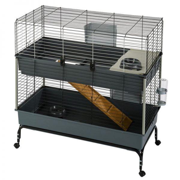 ZOOSHOP.ONLINE - Интернет-магазин зоотоваров - Ferplast  Vital 120 клетка 2-этажная для кроликов и морских свинок
