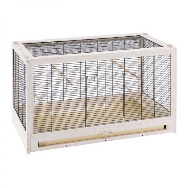 ZOOSHOP.ONLINE - Интернет-магазин зоотоваров - Ferplast Birdcage Bianca Деревянная клетка для птиц