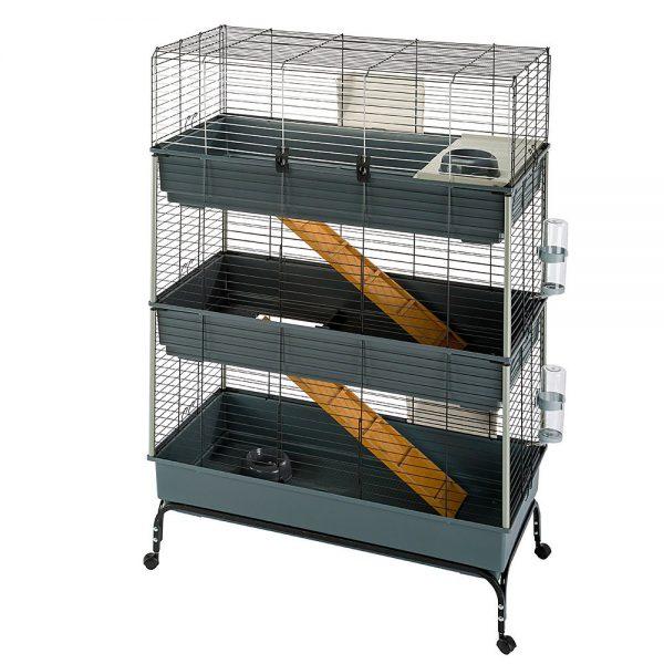 ZOOSHOP.ONLINE - Интернет-магазин зоотоваров - Ferplast Vital 120 клетка 3-этажная для  кроликов