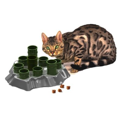 ZOOSHOP.ONLINE - Zoopreču internetveikals - Barotava - spēle kaķiem Bowl & Intelligence Toy
