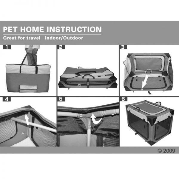 ZOOSHOP.ONLINE - Интернет-магазин зоотоваров - Складная тканевая переноска Pet Home L , XL