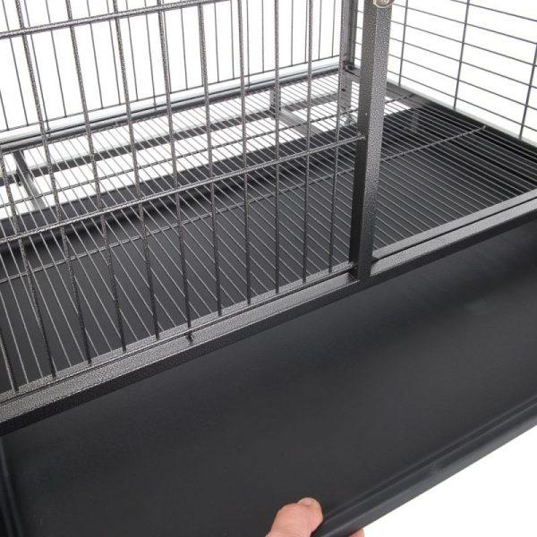 ZOOSHOP.ONLINE - Интернет-магазин зоотоваров - Металлическая клетка  для собак разборная, на колесах 109,5 x70 x 87, 5 cм