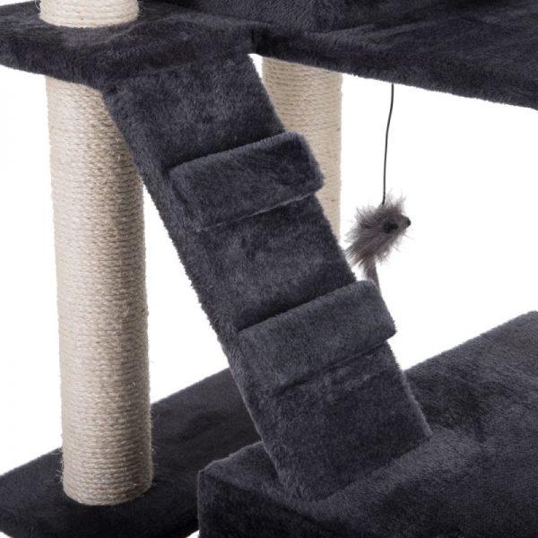 ZOOSHOP.ONLINE - Интернет-магазин зоотоваров - Когтеточка-домик для кошек Rapunzel темно-серый