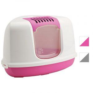 ZOOSHOP.ONLINE - Интернет-магазин зоотоваров - SAVIC Nestor Corner, розовый с белым- туалет для кошек