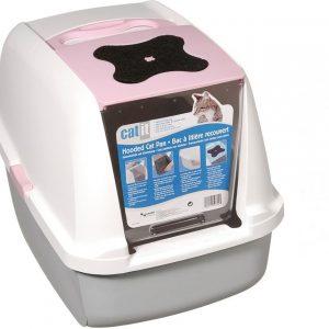 ZOOSHOP.ONLINE - Zoopreču internetveikals - Catit tualete kaķiem gaiši - pelēka / rozā