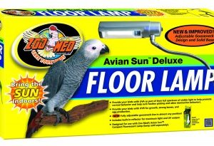 ZOOSHOP.ONLINE - Zoopreču internetveikals - AvianSun™ Deluxe Floor Lamp UV staru lampa - Putnu grīdas lampa