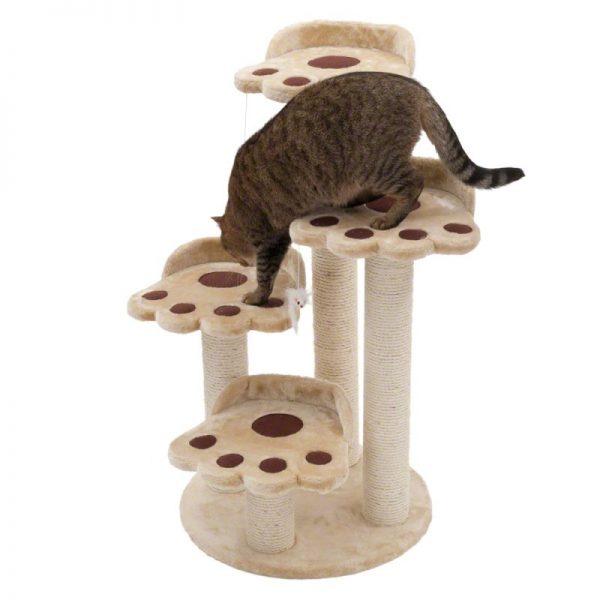ZOOSHOP.ONLINE - Интернет-магазин зоотоваров - Когтеточка-домик для кошек Bear Paw  50 x 50 x 90 cм