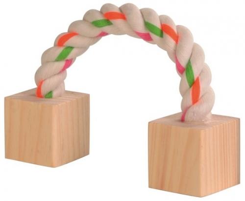 ZOOSHOP.ONLINE - Zoopreču internetveikals - Koka kubi uz virves.