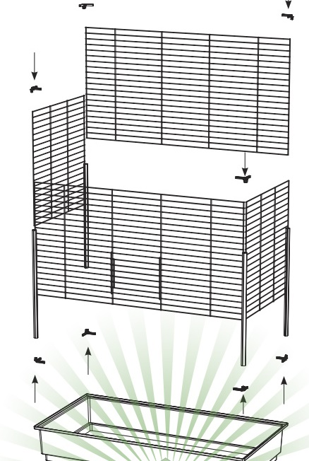 ZOOSHOP.ONLINE - Интернет-магазин зоотоваров - Ferplast набор уголков для монтажа клетки Rabbit x4
