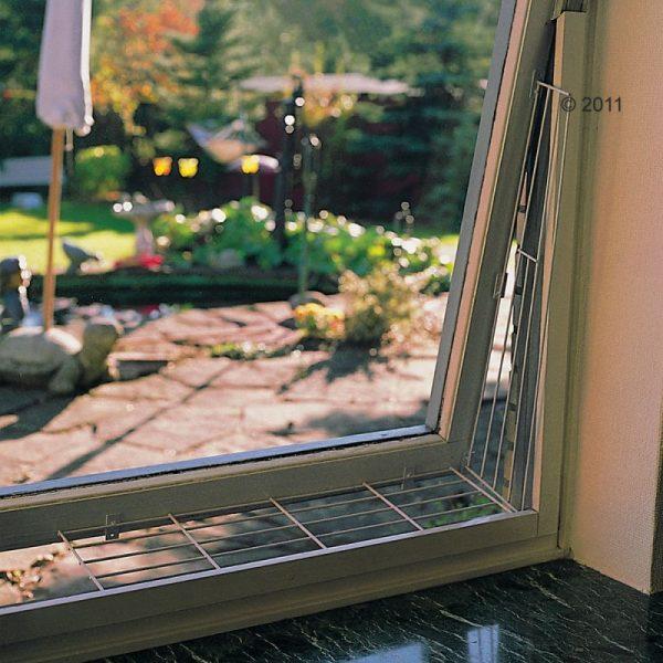 ZOOSHOP.ONLINE - Интернет-магазин зоотоваров - Trixie  защитная решетка для окон, верхняя панель-металлическая