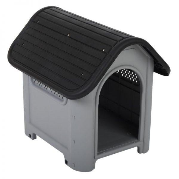 ZOOSHOP.ONLINE - Интернет-магазин зоотоваров - Пластиковая будка для собак Polly Ш 60 x Гл 74 x В 66