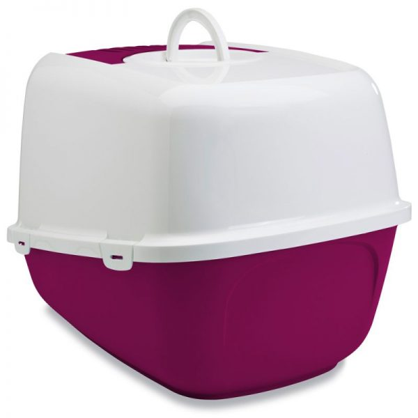ZOOSHOP.ONLINE - Интернет-магазин зоотоваров - SAVIC Nestor Jumbo - туалет для кошек - бордовый
