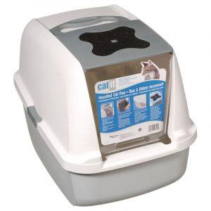 ZOOSHOP.ONLINE - Zoopreču internetveikals - Catit tualete kaķiem gaiši pelēks / balts
