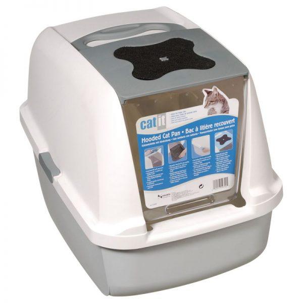 ZOOSHOP.ONLINE - Интернет-магазин зоотоваров - Catit туалет для кошек светло-серый / белый