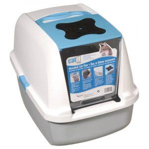 ZOOSHOP.ONLINE - Zoopreču internetveikals - Catit tualete kaķiem pelēks - zils / balts