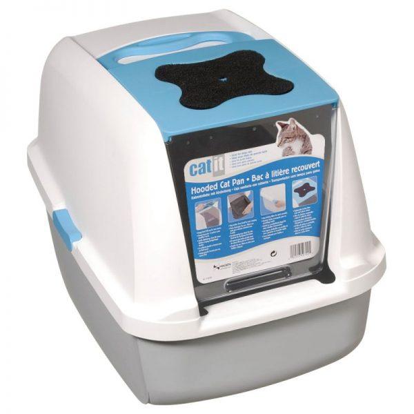 ZOOSHOP.ONLINE - Интернет-магазин зоотоваров - Catit туалет для кошек серый - белый / синий