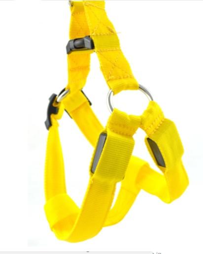 ZOOSHOP.ONLINE - Zoopreču internetveikals - LED neilona iemaukti   - dzelteni М: 43 - 60 cm