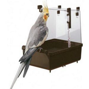 ZOOSHOP.ONLINE - Zoopreču internetveikals - Ферпласт piekaramā peldētava lieliem un vidējiem putniem 23,5 x 15,5 x 24 сm