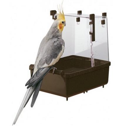 ZOOSHOP.ONLINE - Интернет-магазин зоотоваров - Ferplast подвесная купалка для больших и средних птиц  23,5 x 15,5 x 24 см