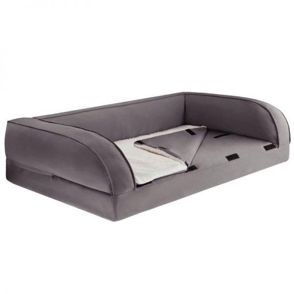 ZOOSHOP.ONLINE - Интернет-магазин зоотоваров - Ортопедический диван для собак, серый 75 x 50 x 25 см