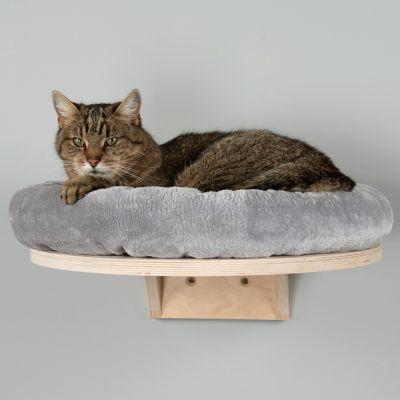 ZOOSHOP.ONLINE - Zoopreču internetveikals - Pie sienas stiprināma kaķu gulta no finiera