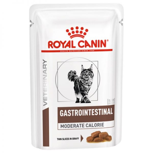 ZOOSHOP.ONLINE - Интернет-магазин зоотоваров - Royal Canin Veterinary Diet Feline Intestinal Moderate Calorie12 x 85g