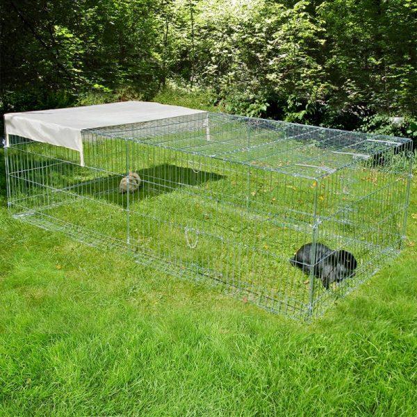 ZOOSHOP.ONLINE - Интернет-магазин зоотоваров - Металлический уличный манеж для кроликов и морских свинок Kerbl 200 см