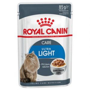 ZOOSHOP.ONLINE - Zoopreču internetveikals - Royal Canin Ultra Light mērcē 85 g