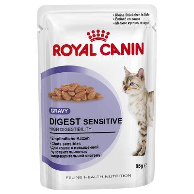 ZOOSHOP.ONLINE - Интернет-магазин зоотоваров - Консервы для кошек - Royal Canin Feline Digest Sensitive (в соусе), 85 гр
