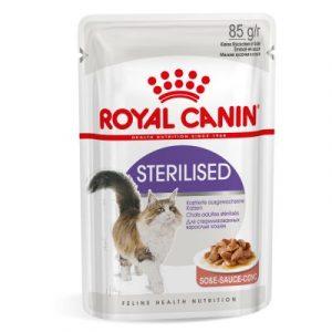 ZOOSHOP.ONLINE - Zoopreču internetveikals - Royal Canin Sterilised mērce 12 x 85 g