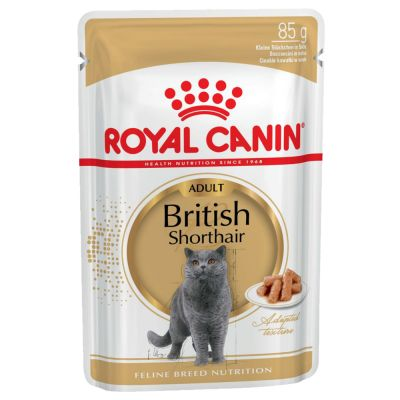 ZOOSHOP.ONLINE - Zoopreču internetveikals - Royal Canin Breed British Shorthair Adult mērcē 12 x 85 gr