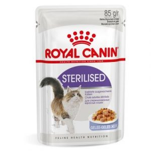 ZOOSHOP.ONLINE - Zoopreču internetveikals - Royal Canin Sterilised želejā 12 x 85 gr
