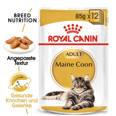 ZOOSHOP.ONLINE - Интернет-магазин зоотоваров - Royal Canin Breed Maine Coon Adult в соусе 12 x 85 g