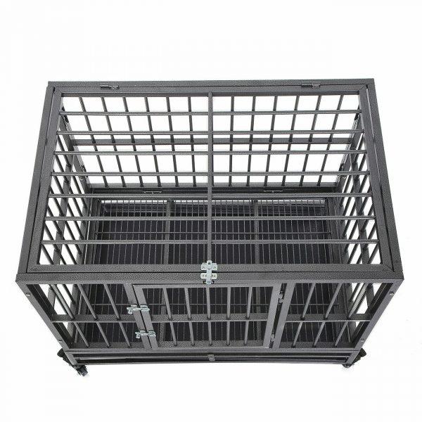 ZOOSHOP.ONLINE - Интернет-магазин зоотоваров - Металлическая клетка вольер для собак разборная на колесах