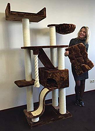 ZOOSHOP.ONLINE - Zoopreču internetveikals - Kaķu māja kilimandžāro de Luxe (brūns) Cat Tree Kilimandjaro de Luxe Brown