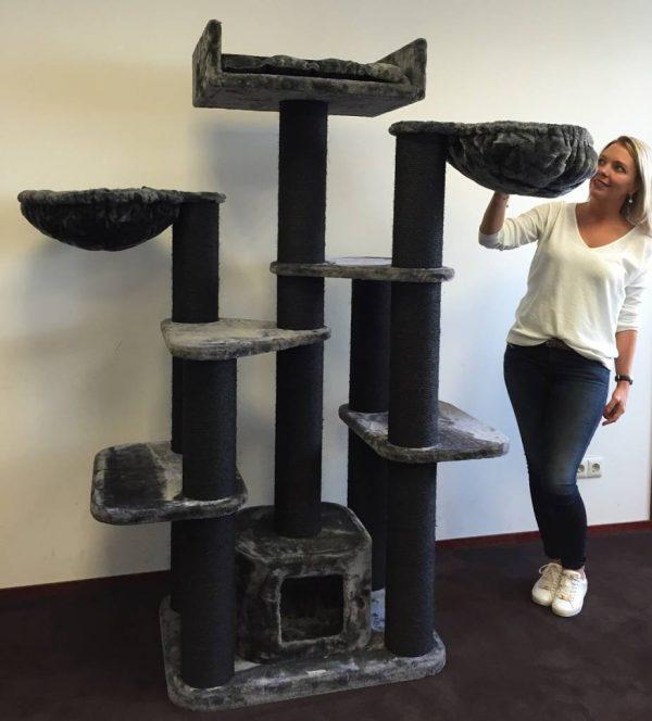ZOOSHOP.ONLINE - Zoopreču internetveikals - Kaķu māja Maine Coon Fantāzija(melnā līnija) Cat Tree Maine Coon Fantasy Blackline Anthracite