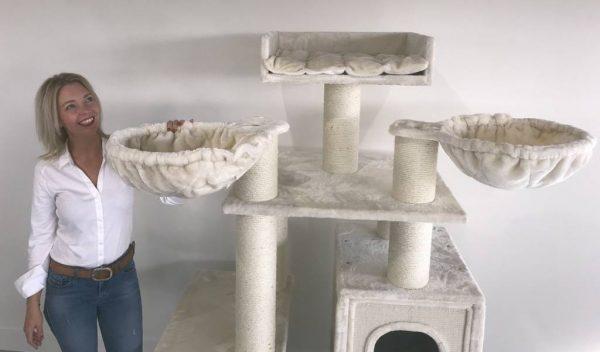 ZOOSHOP.ONLINE - Интернет-магазин зоотоваров - Кошачье дерево Рай для Котов (крем). Cat Tree Cat Paradise Cream