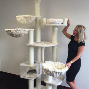 ZOOSHOP.ONLINE - Интернет-магазин зоотоваров - Кошачье дерево Мечта Де Люкс (крем). 0276 Cat Tree Catdream de Luxe Cream